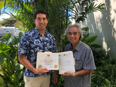 Rob Kajiwara Appointed by the Hawaiian Kingdom as Special Envoy to China and Ryukyu, photo with H.E. Leon Siu, Minister of Foreign Affairs and Nobel Peace Prize Nominee